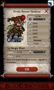 Dovin, Bounty Huntress Base Stats