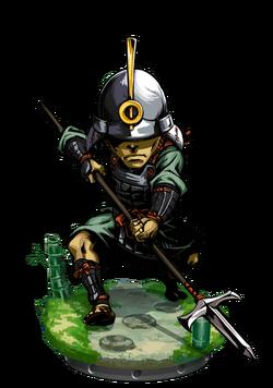 Ashigaru Commander + Figure