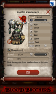 Goblin Cannoneer Base Stats