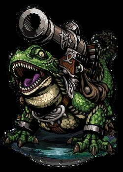 Hash, Lizardman Cannoneer Figure