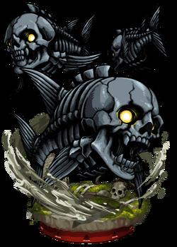 Skull Fish II Figure
