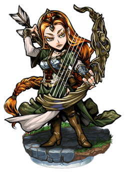 Aslaug, the Lyre Bow Figure