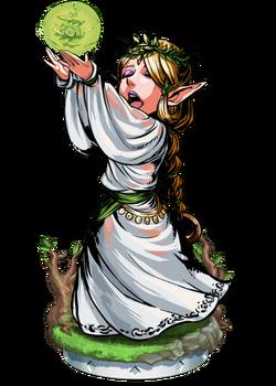 Elven Healer + Figure