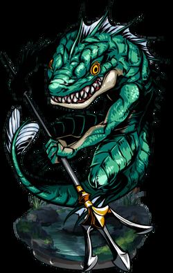 Sahagin Warrior Figure