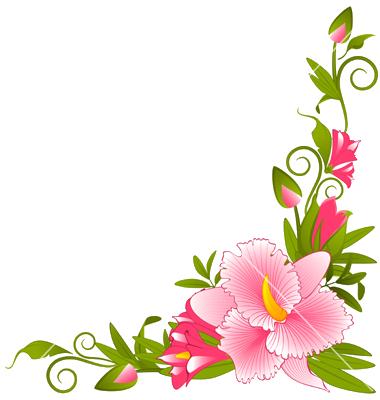 File:Flower Border Vector.png