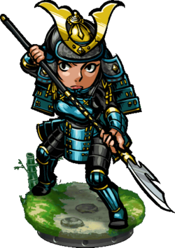 Naginata Samurai Figure