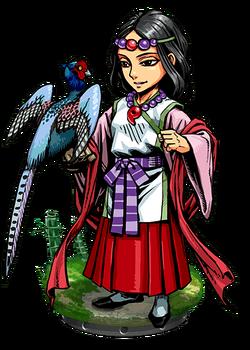 Momoso, Pheasant Tamer Figure