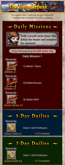 Thunderpeak Daily Mission