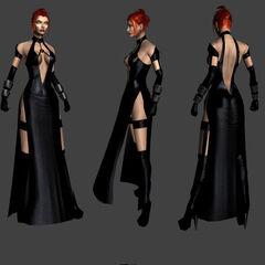 Rayne in a dress in <i>BloodRayne 2</i>