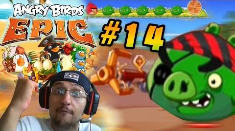 Lets Play Angry Birds EPIC Part 14 I HAVE NO FRIENDS! Pirate Coast Porktuga! (Face Cam Commentary)