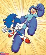 Sonic y megaman hero up