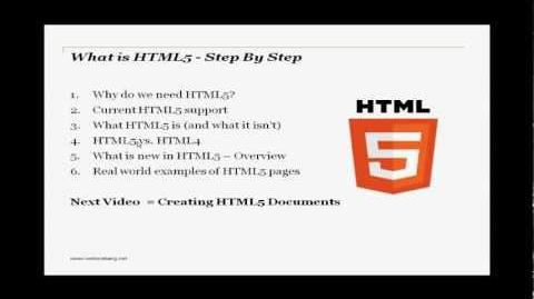 What is HTML5 - Step By Step