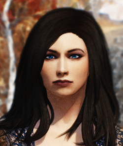 Iris portrait detail