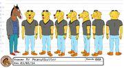 Mr Peanutbutter model sheet