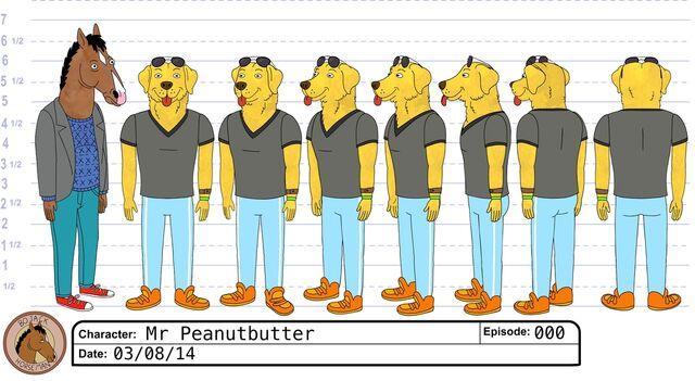 File:Mr Peanutbutter model sheet.jpeg