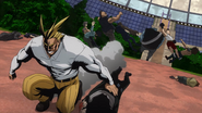 All Might quickly defeating villains