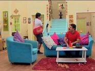Avtaar and Rohan in living room