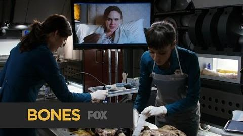 """BONES Very Mysterious from """"The Secret in the Service"""" FOX BROADCASTING"""