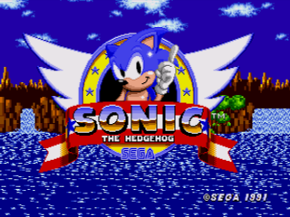 Sonic The Hedgehog Title