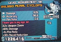 DVL550 Pearl Cyclops