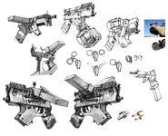 Bandit pistol sketches