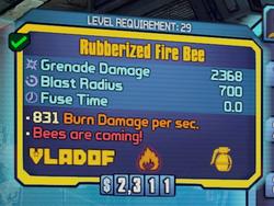 Rubberized Fire Bee