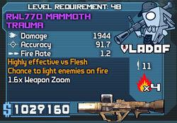 RWL770 Mammoth Trauma