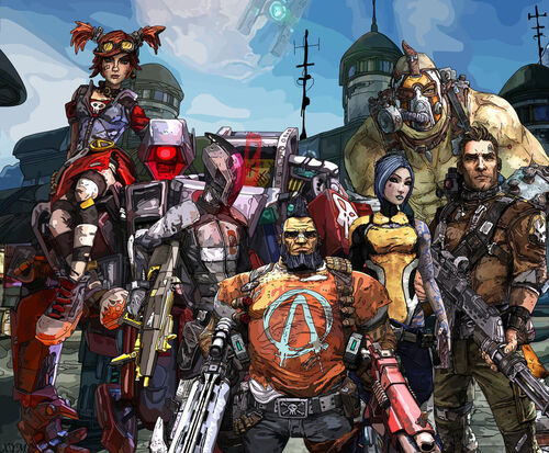Borderlands 2 vault hunters by xpand your mind-d6ontm4