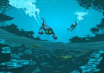 Swimming prowlies
