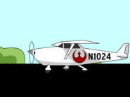 Flight - Plane with Rebel symbol