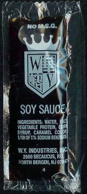 WY Industries Soy Sauce packet