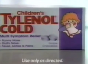 Children's Tylenol Cold circa 1990
