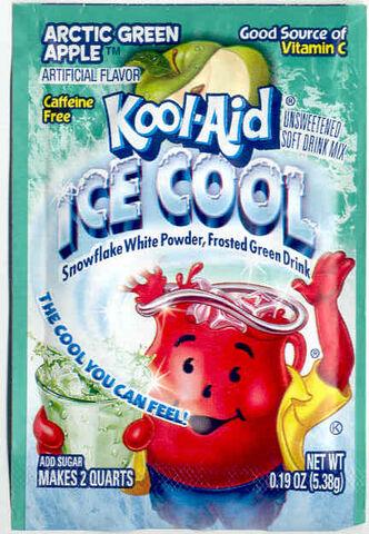 File:Kool-Aid Ice Cool Artic Green Apple flavor packet 2000's.jpg