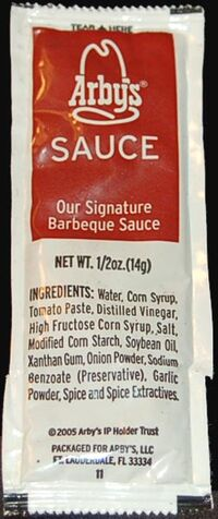 Arby's Sauce packet 2005