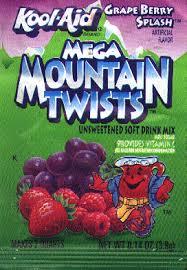 Kool-Aid Mega Mountain Twists (Grape Berry Splash)