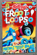 Froot Loops box (new Tropical Berry blue) 1996