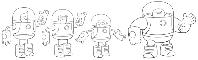 File:Bravest Warriors in space suits.png