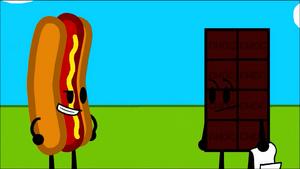Hot dog chocolatey
