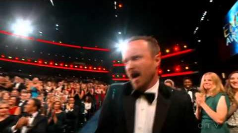 Aaron Paul wins 2014 Emmy for Outstanding Supporting Actor - Drama