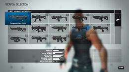Menu Weapon Selection