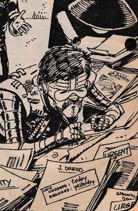 Ezquerra draws himself as an art robot