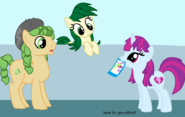 813165 safe equestria+girls ponified background+human mystery+mint sweet+leaf equestria+girls+ponified artist-colon-berrypunchrules green+cycle