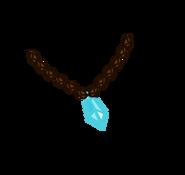 Crystal Heart Shard Necklace