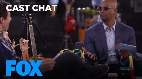 Damon Wayans & Andy Samberg Interrogate Each Other In The FOX Lounge FOX BROADCASTING