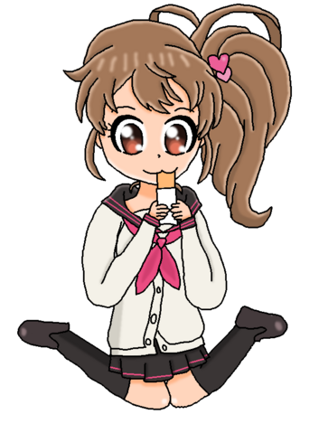 File:It may be cute, but it will never be Ema Hinata eating a hot pocket cute!.png