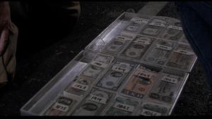 Emergency cash suitcase opened