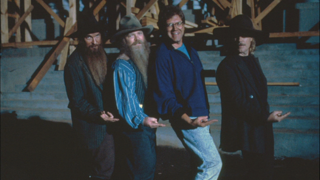 File:ZZ Top and Robert Zemeckis on location of Back to the Future Part III.png