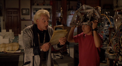 Marty wearing brainwave analyzer
