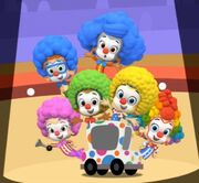 Molly rolls out the clowns