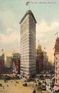 Nowy Jork Flatiron Building ok1900